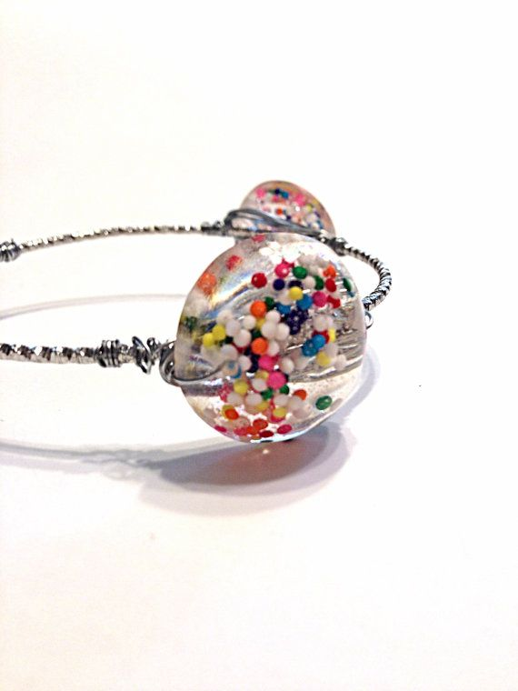 Wire Wrapped Bracelet  Wire Wrapped Bangle  Candy by Barysto