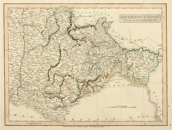 South Of France And Italy Map.Piedmont Savoy With Part Of The South Of France Maps Of Italy