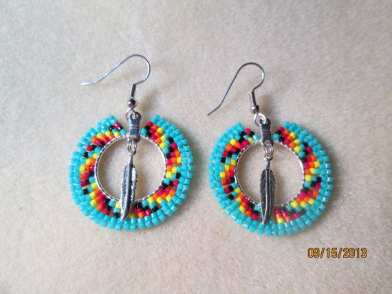 Handmade seed bead Native style beaded  by EagleplumeCreations