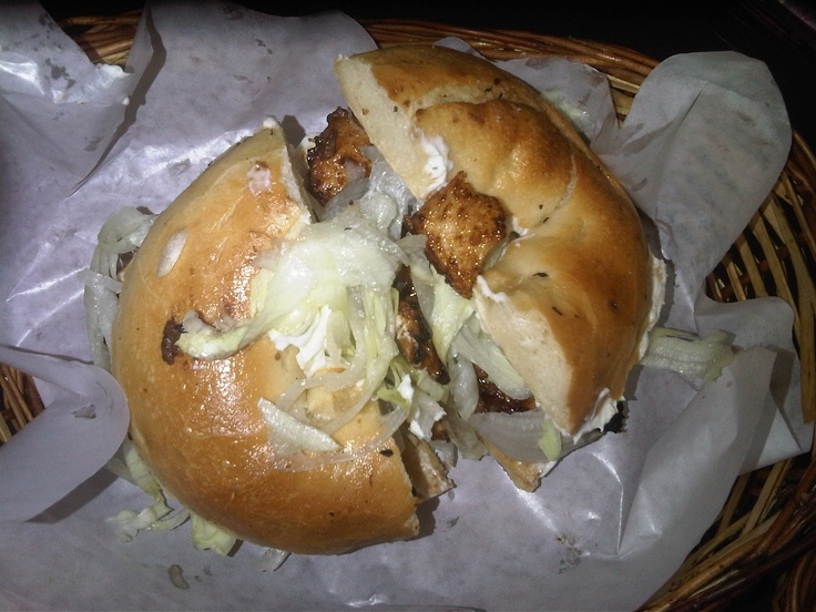 Grilled Chicken Bagel at Bagelwala - Beautiful Flavors and very filling.