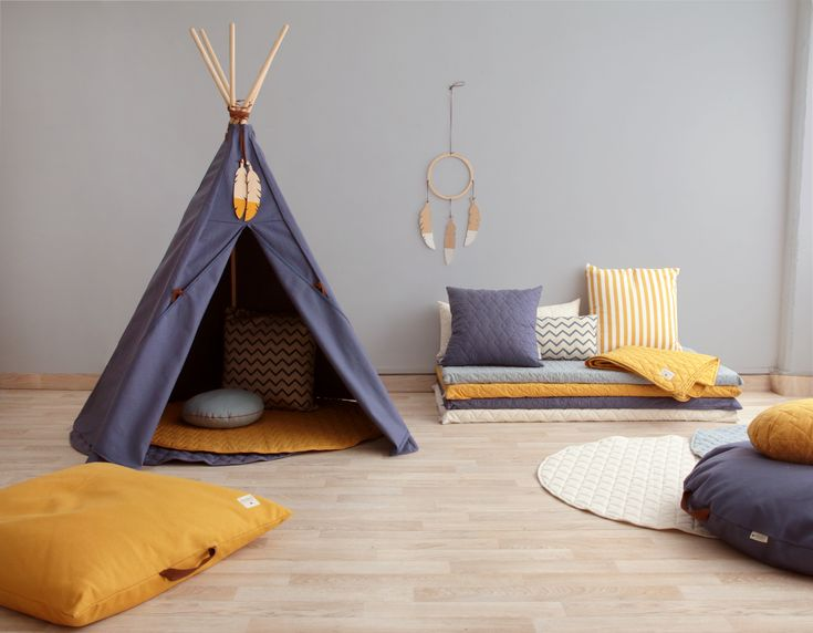 Nevada teepee aegean blue by nobodinoz tipi indiendécoration chambredeco pour