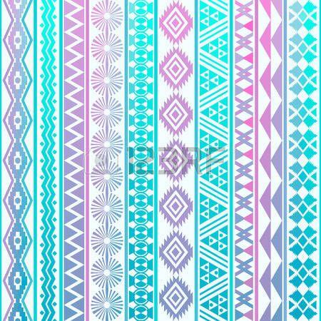 Tribal gestreepte naadloos patroon. Geometrische achtergrond. Kan worden gebruikt in stof ontwerp voor het maken van kleding, accessoires; het creëren van decoratief papier, verpakking, envelop; in web design, etc. photo