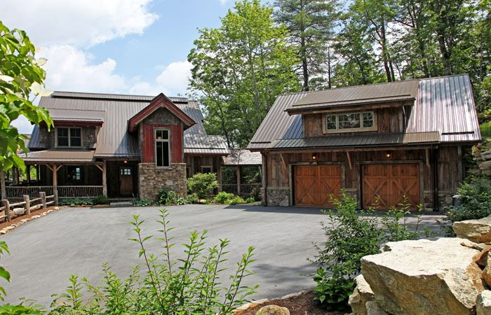Future garage expansion log home designs rustic home for Homes with detached garage