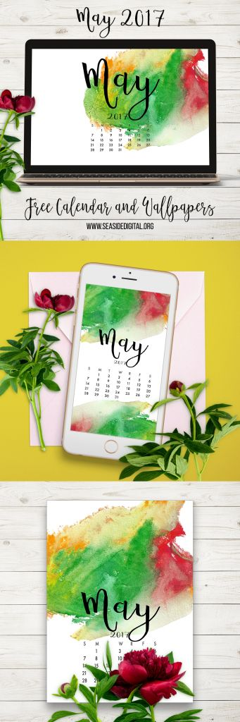 May 2017 Free Calendar and Wallpapers