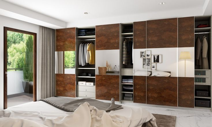 This mirrored wardrobe is adorable! #modular #wardrobe #livspace