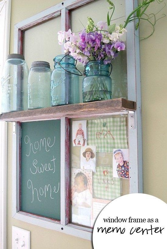 old window frame as frame decor ideas pinterest