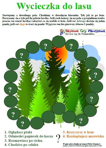 Wycieczka do lasu - plansza do gry