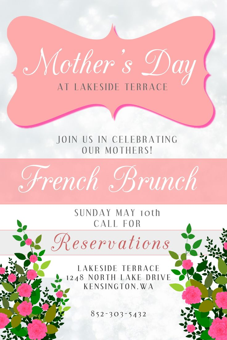 Poster design tools - Mother S Day Poster Design Brunch Click To Customize