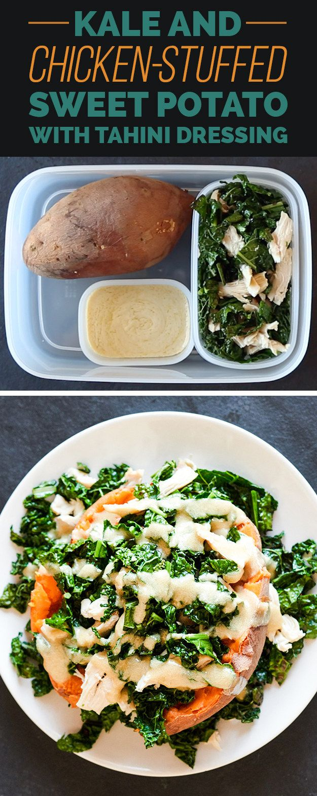 THURSDAY: Kale and Chicken-Stuffed Sweet Potato | Here's How To Pack 5 ...