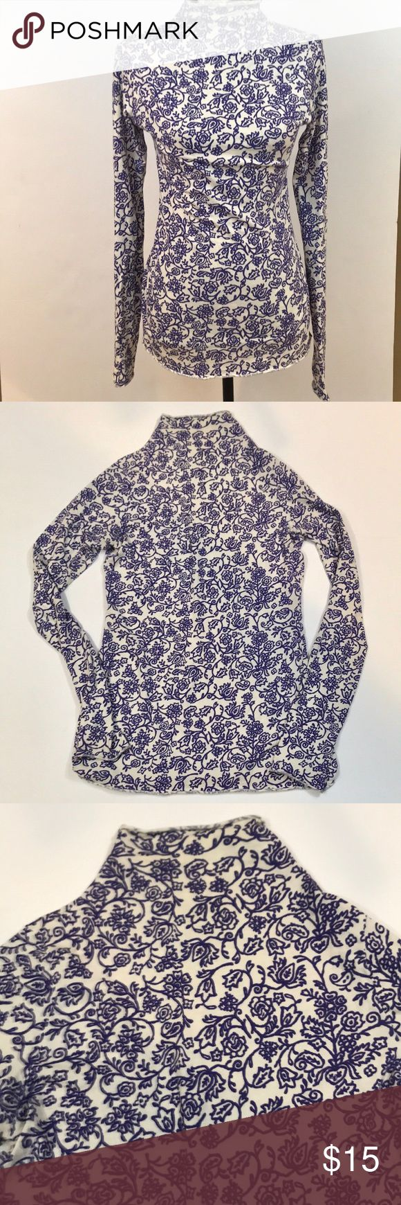 "Velvet By Graham & Spencer Mock Turtleneck Super cute Velvet By Graham & Spencer Mock Turtleneck size medium. Purple Floral design. Excellent preloved condition. Light weight. 100% cotton. 17.5"" from underarm to underarm and 28.5"" long. Velvet by Graham & Spencer Tops"