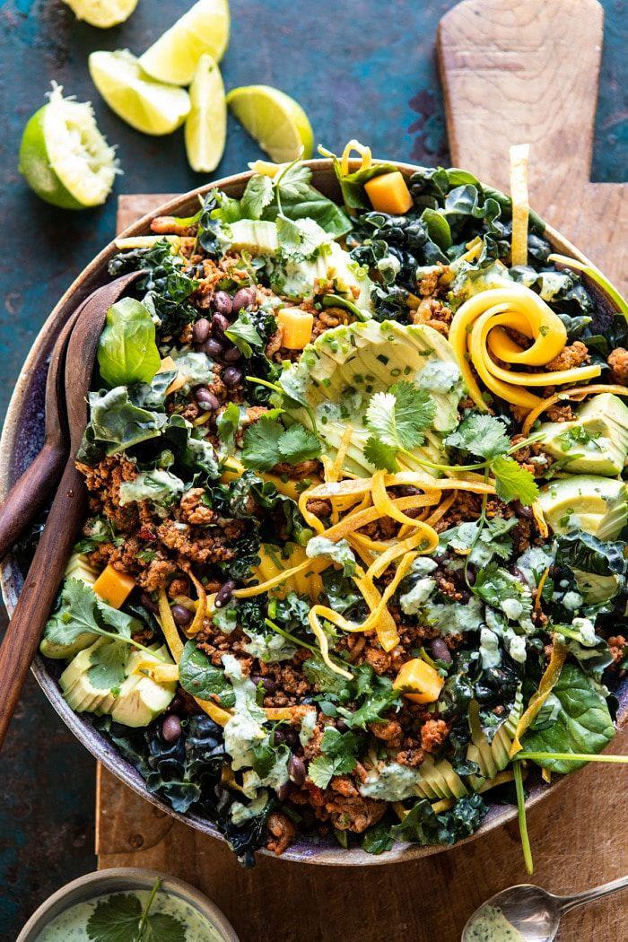 Spicy Turkey Taco Salad With Baja Lime Dressing