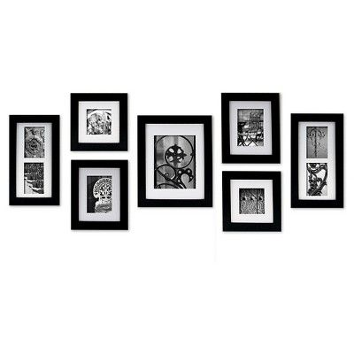 Gallery Perfect 7 Piece Wall Frame Set - Black
