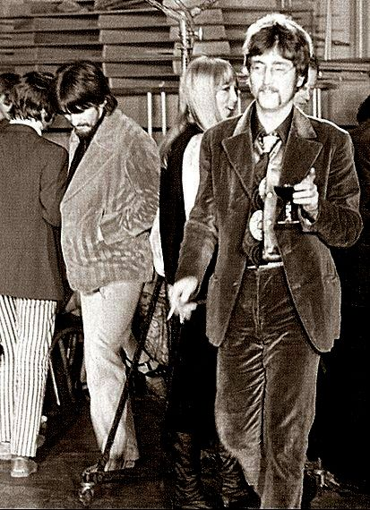 John and George in the background