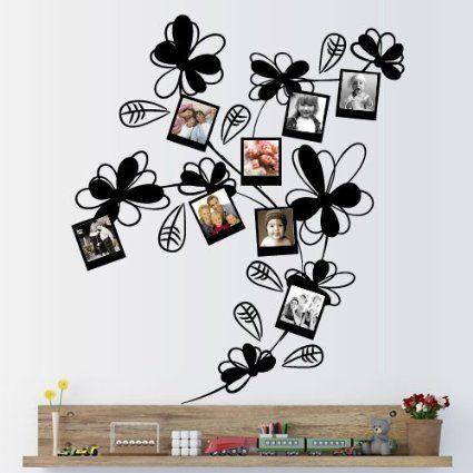 Amazon.com - Wall Decal Vinyl Sticker Art Decor Design Plant Flower Frame Photo Curl Tree Branch Children Kids Nursery Family Bedroom (M1349) -