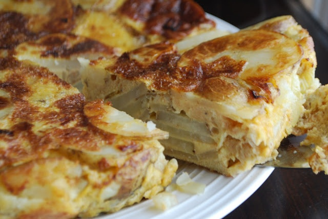 Tortilla Española tastes great the first time, and so do the leftovers the next day!