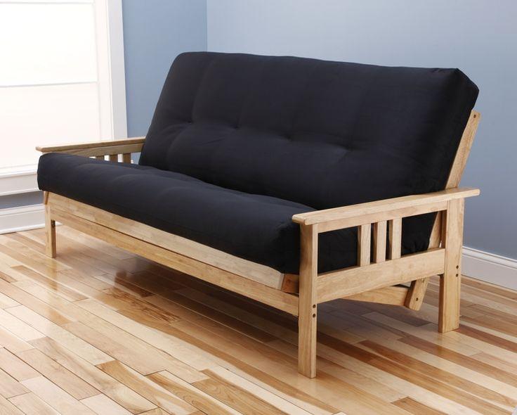 monterey natural futon suede black futon mattress by kodiak