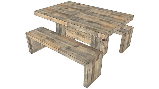 Large preview of 3D Model of West Elm – Emmerson™ Reclaimed Wood Dining Table