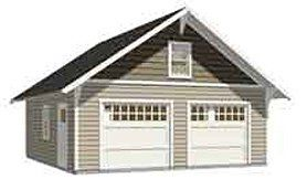 Garage plans 2 car craftsman style garage plan 576 14 for Craftsman style shed plans