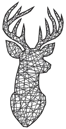 Deer Head Silhouette Printable Stencil