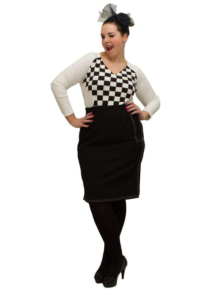 Plus size clothing   Plus size fashion for women   Amamiko #Plussize #black and #white