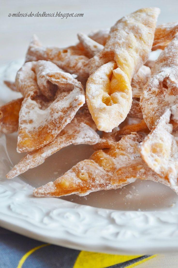 Z miłości do słodkości...: Karnawałowe kruche faworki