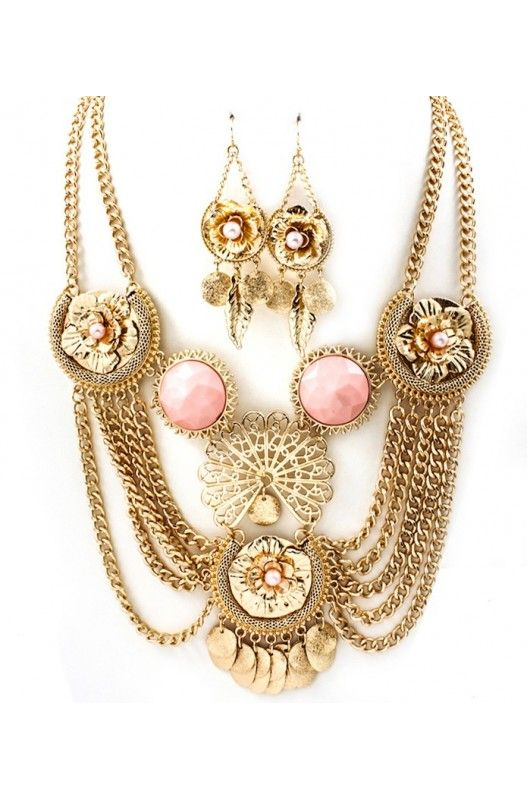 """Creme De La Creme"" Necklace Earring Set-  Limited Item In Stock! Available at 50% Discount. Shop Now!"