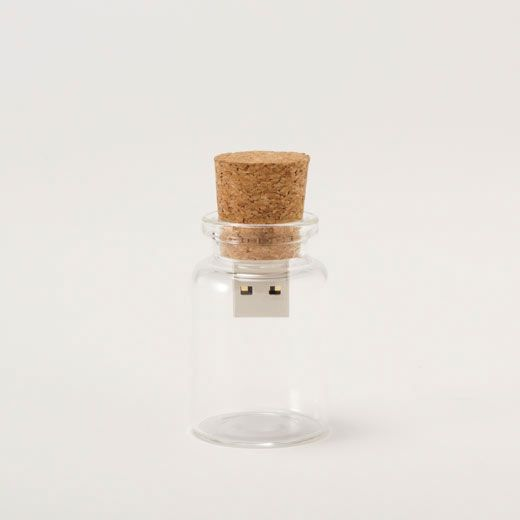 Message in a bottle USB flash drive. To give digitals to family :) Thanks, @Caroline Campbell !