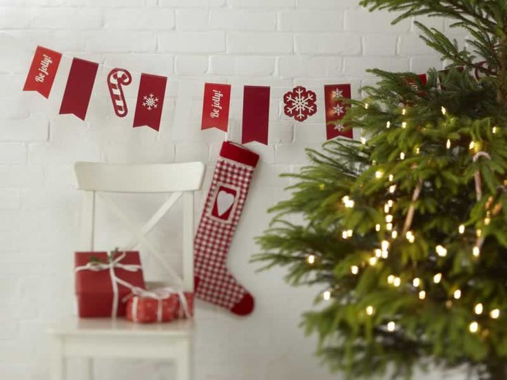 Christmas Cheer Vintage Party Bunting Decorations from Pink Frosting Christmas Shop