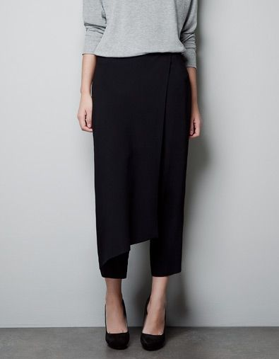 STUDIO TROUSERS - Trousers - Woman - ZARA : not typical for me but maybe worth a try