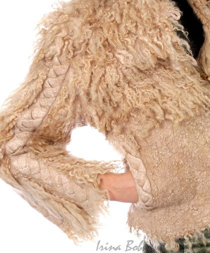 Верхняя одежда ручной работы. Ярмарка Мастеров - ручная работа Куртка валяная Косы. Handmade.