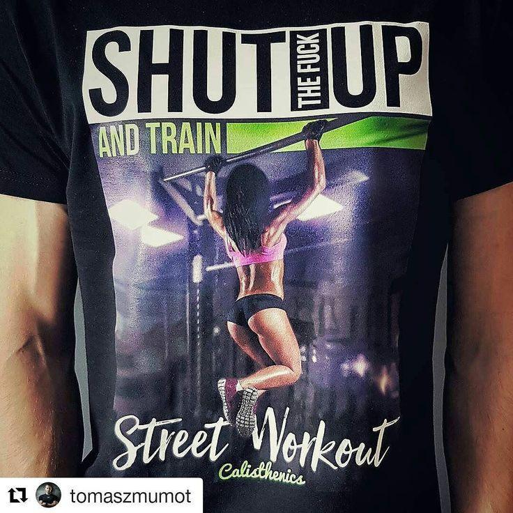 Taka motywacja na koszulce ;-) #tshirt #motivation #fitness #streetworkout #train #calisthenics #stimago #stimagopl #tomaszmumot