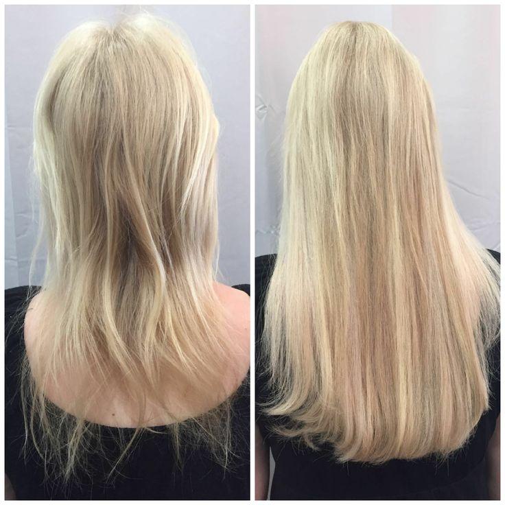 Vorher/Nachher - Blonde Extensions mit Great Lengths | Haarverlängerung #extensions