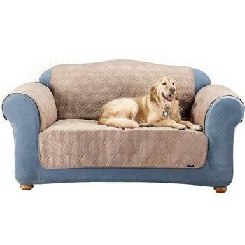 Sure Fit Quilted Suede Sofa Pet Throw, Taupe - http://www.thepuppy.org/sure-fit-quilted-suede-sofa-pet-throw-taupe/