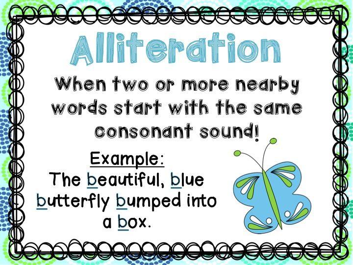 Teaching alliteration ks3