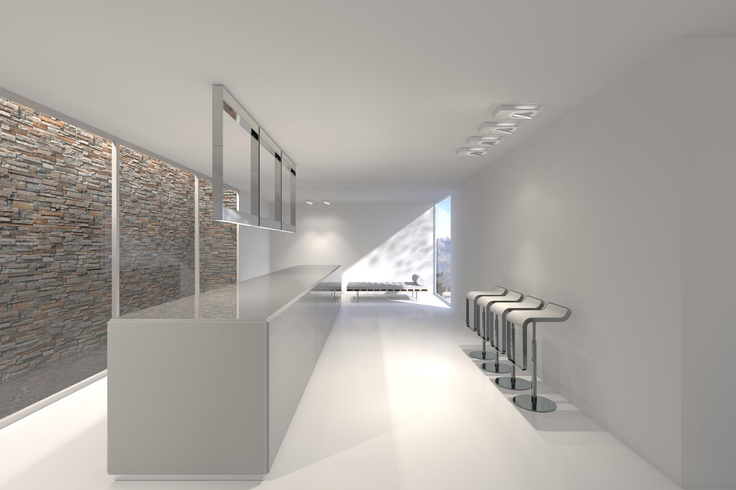 Pure and clean interior design project by architect Filip Deslee _