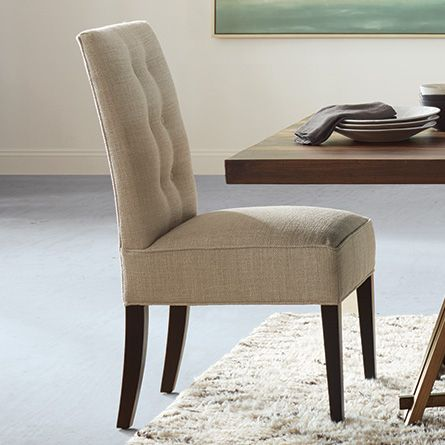 Tao Upholstered Tufted Dining Side Chair In Trinidad Flax