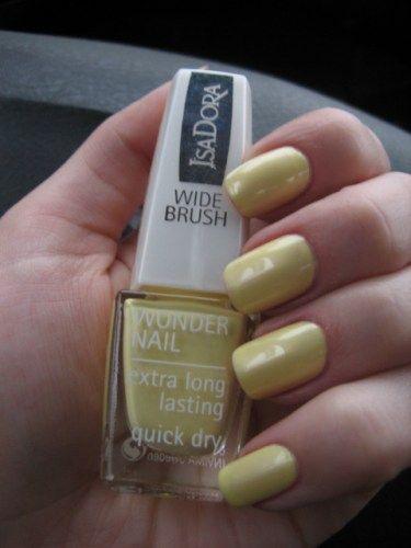 Мой идеальный желтый лак для ногтей с широкой кисточкой IsaDora Wide Brush Wonder Nail #653 Mellow Yellow — Отзывы о косметике — Косметиста