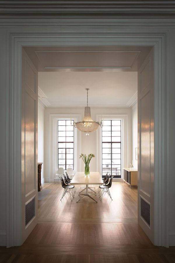 Francesca Connolly's Brooklyn brownstone designed by Steven Harris and Lucien Rees Roberts.