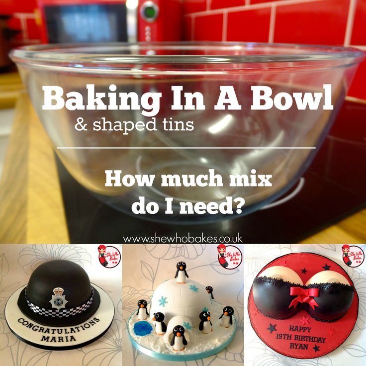 Baking in a Bowl & oddly shaped tins. How much mix do I need? Baking tips by She Who Bakes.
