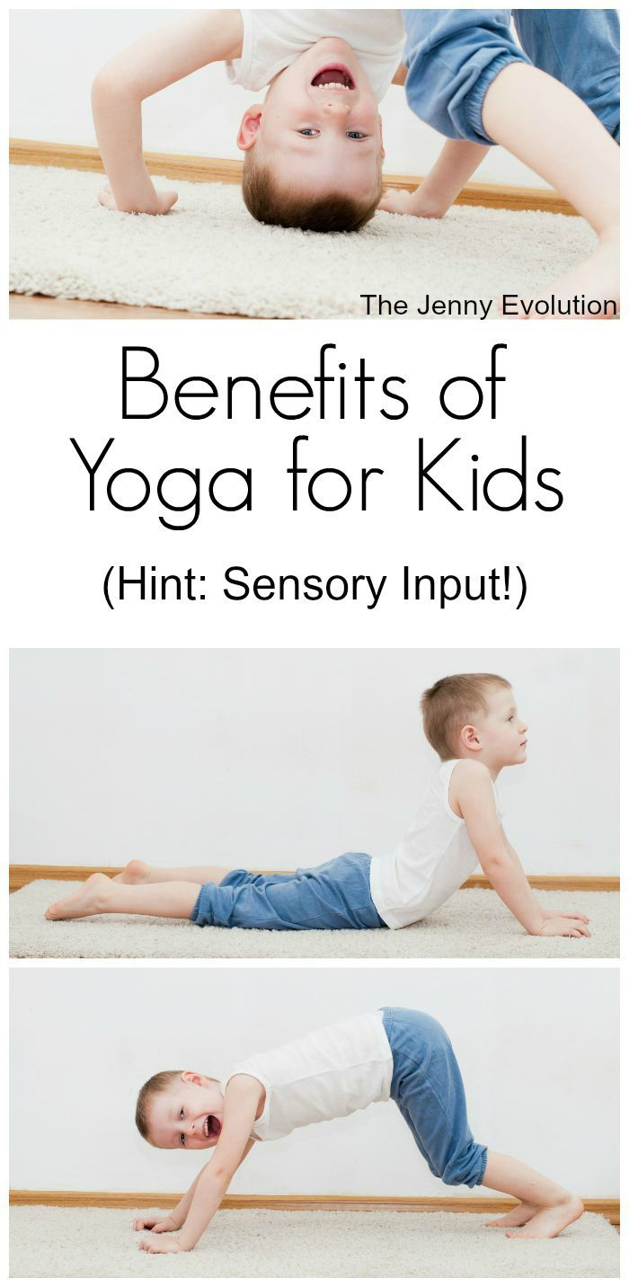 Benefits: Whenever the head is inverted, the vestibular system gets a rush of input. Many kids crave this. The extra weight placed on the arms is great proprioceptive input, helping kids be more aware of their bodies.