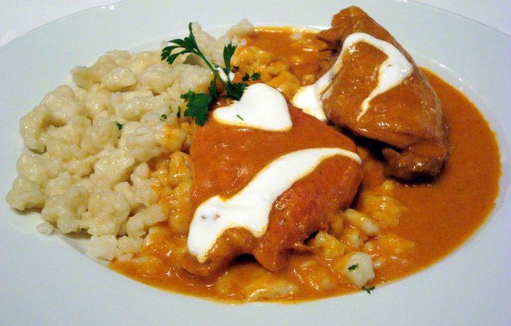 Hungary - food and drink - chicken paprikash (csirke paprikás)