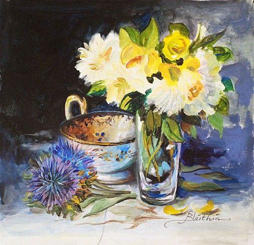 """Blaithin, """"Summer Flowers"""" #art #painting #StillLife #flowers #summer #DukeStreetGallery"""