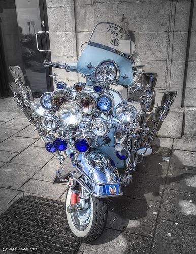 Blue Vespa