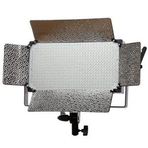 Flashpoint 500 LED Dimmable AC Light - 500 daylight balanced LEDs are controlled in two groups allowing you to fine tune light output to whatever your needs are. The built in barn doors allows you to flag or spill light wherever you need. Mounts on light stand or 5/8 stud. This model does not take V mount batteries. - http://www.adorama.com/FPVL500.html