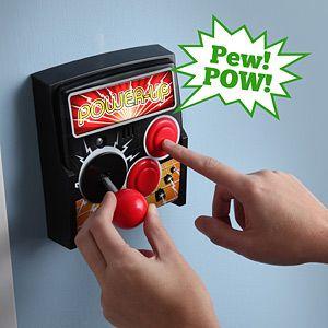 Power-Up Arcade Light Switch Plate from ThinkGeek.com- $7.49