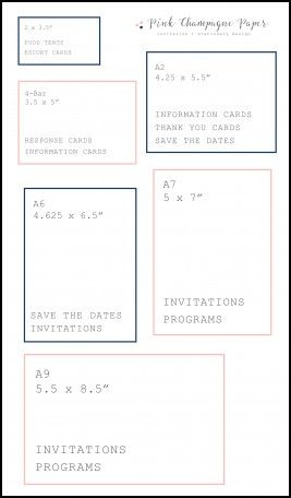 Traditional Wedding Invitation Size