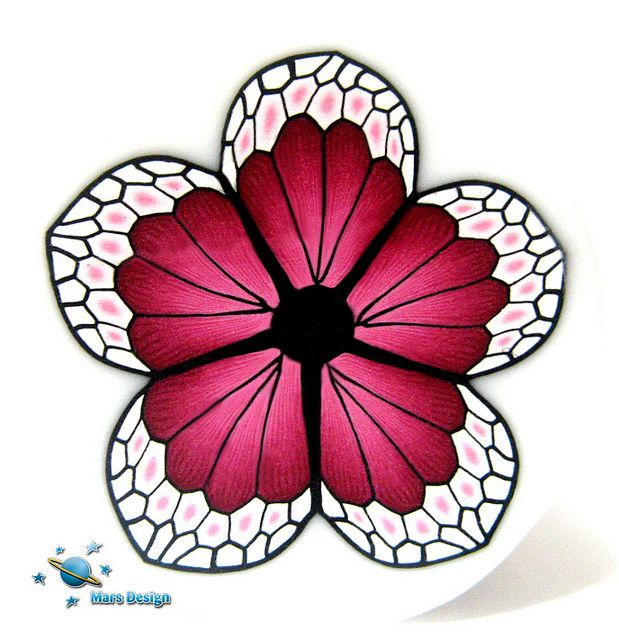 Butterfly flower cane by Mars Design | Flickr - Photo Sharing!