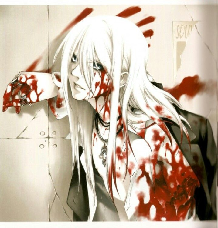 Bloody anime boy -- {anime, manga, otaku, fangirl, anime lover, anime freak, anime fan, horror, blood, scary, freaky}