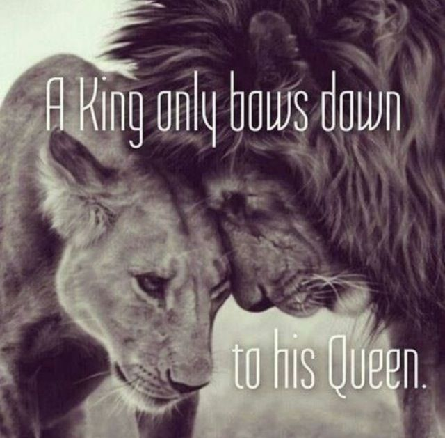 King bows to queen