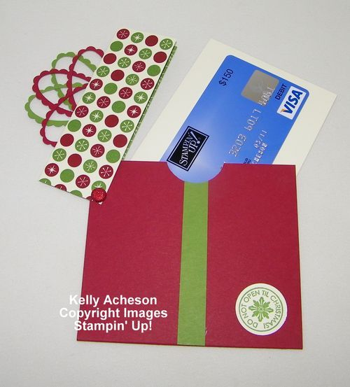 cute present gift card holder - directions provided
